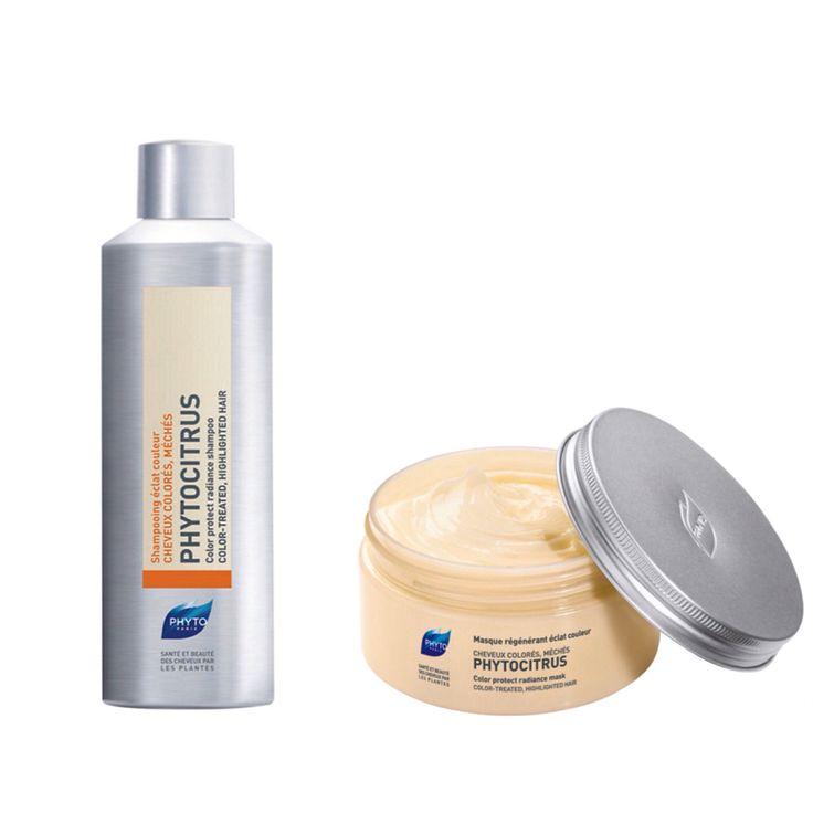 Χάρισε λάμψη και ζωντάνια στα βαμμένα σου μαλλιά! Ο συνδυασμός του σαμπουάν PHYTOCITRUS και της μάσκας αναγέννησης χρώματος PHYTOCITRUS θα προσφέρει στα βαμμένα σου μαλλιά μοναδική θρέψη, λάμψη και ζωντάνια, χάρη στην υψηλή περιεκτικότητά τους σε αναδομητικά φυτικά έλαια.