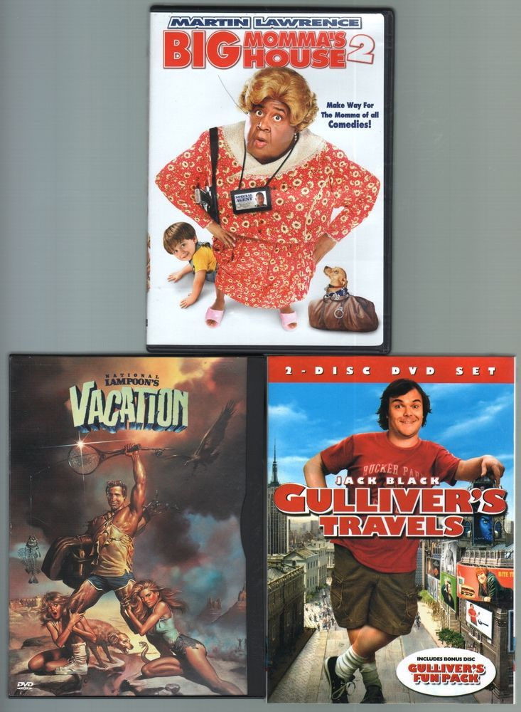 Three #ClassicComedy films on #DVD. Join the #Griswolds, a typical suburban family, on their summer vacation, a cross-county trip to their favorite amusement park, #WalleyWorld. Everything that can go wrong does go wrong in this outrageous farce. #BigMommasHouse #GulliversTravels #Vacation #NationalLampoon #ChevyChase #JackBlack #MartinLawrence