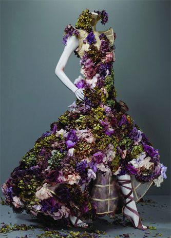 Alexander McQueen flower dress - less of the weird - just wonderful!