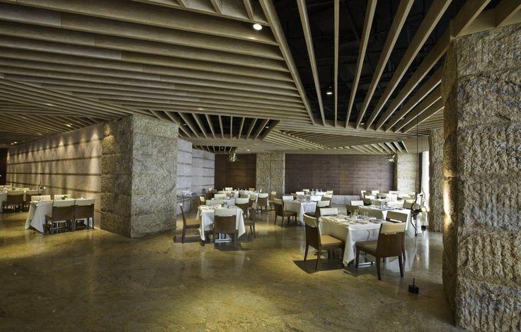 restaurant interior stone wall design restaurant lobby interior design
