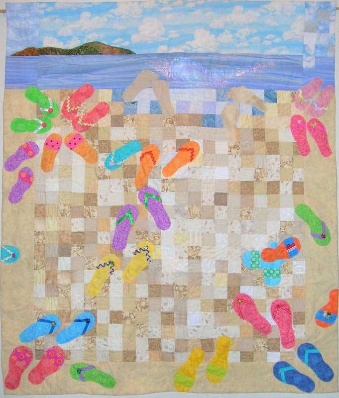 Quilting Patterns Beach Theme : 17 Best images about Flip Flop Quilts on Pinterest Contemporary artwork, The company store and ...