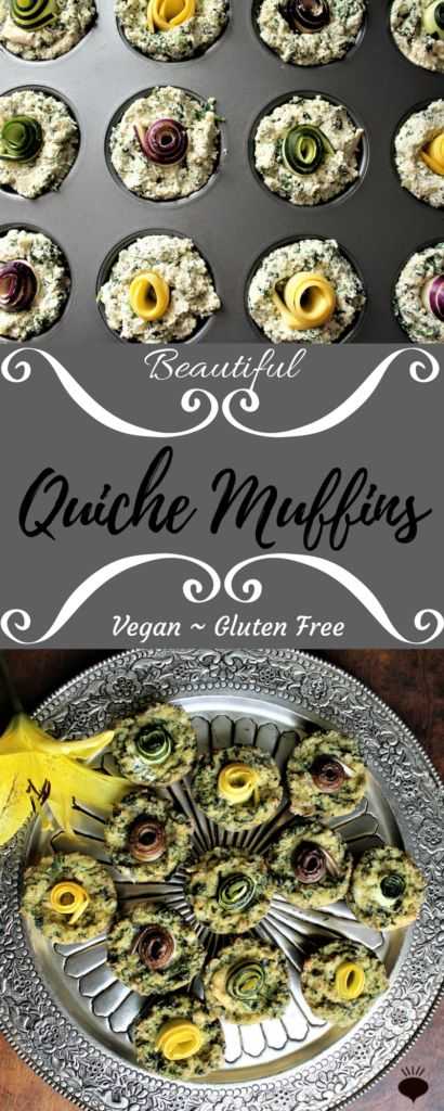 Quiche Muffins are a high protein, low carb, vegan and gluten free breakfast. Packed with tofu and spinach, they make the perfect breakfast! Thehiddenveggies.com