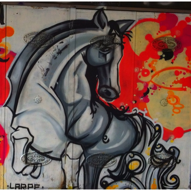 Graffiti horse in Madrid