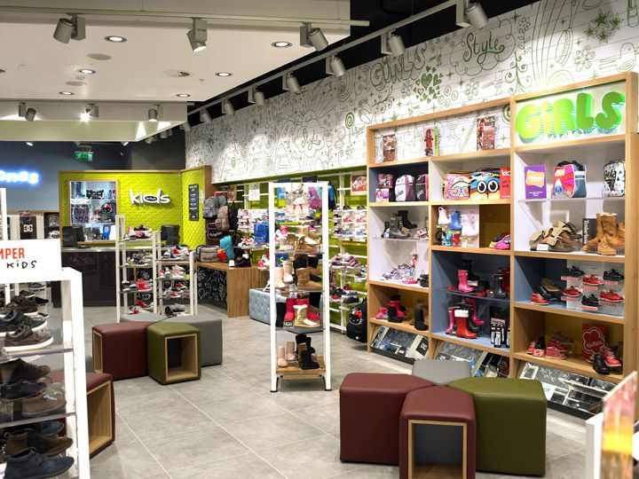 Schuh Kids concept store by Briggs Hillier, Liverpool store design