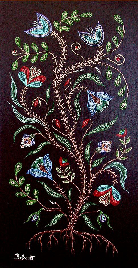 part by Christi Belcourt. BEADWORK STYLE ART