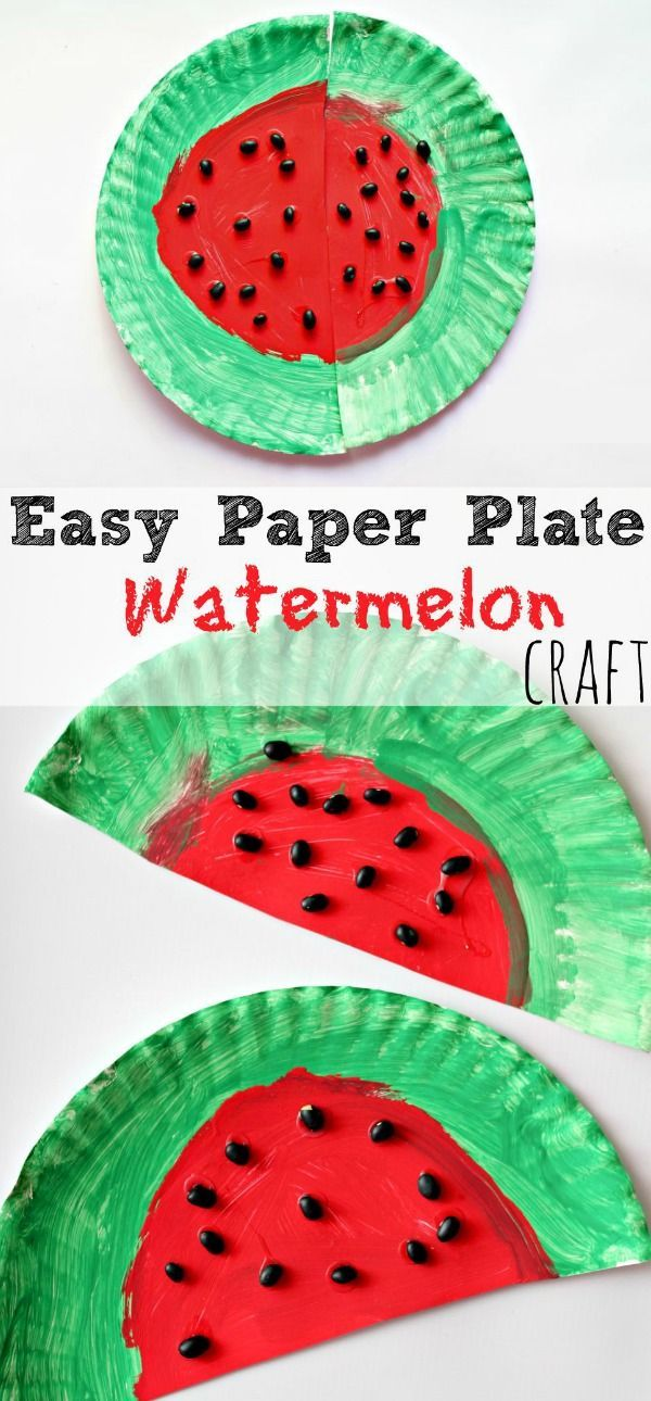 Preschool This Easy Paper Plate Watermelon Craft Is Perfect For Celebrating The Beginning Or Watermelon Crafts Spring Crafts For Kids Spring Crafts