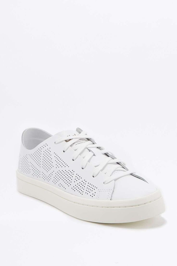 adidas Originals Court Vantage Laser Cut White Trainers