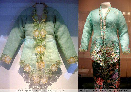 Traditional Sarong kebaya worn by Nonyas, the Chinese Peranakan women