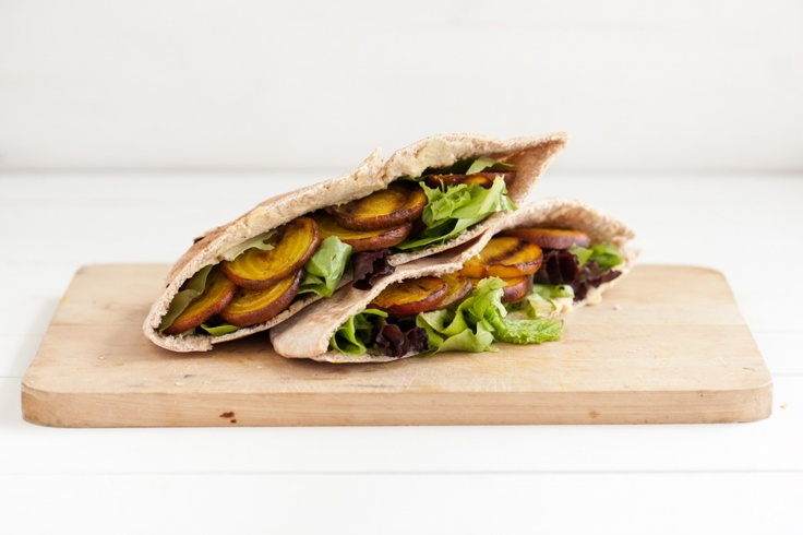 Grilled Beet and Hummus Stuffed PitaGrilled Golden, Stuffed Pita, Food, Golden Beets, Grilled Beets, Hummus Pita, Her Nature, Grilled Recipe, Hummus Stuffed