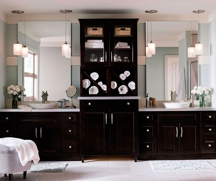 17 best images about master bathroom ideas on pinterest for Bathroom decorating ideas cherry cabinets