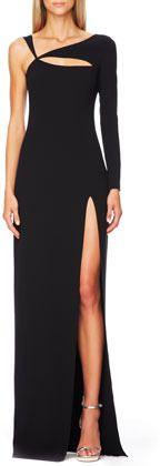 Michael Kors Cutout Single-Sleeve Gown