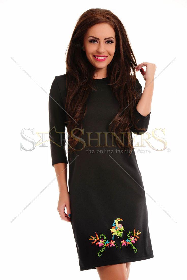StarShinerS Brodata Safari Black Dress