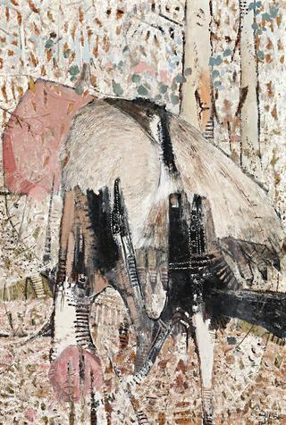 Clifton Pugh, Emu in Forest, 1976