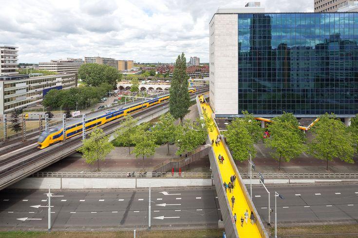 Luchtsingel Bridge Meets the Contributing Citizens of Rotterdam