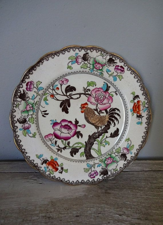 1890s Bishop & Stonier Bread and Butter Plate Nankin