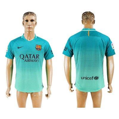 Barcelona 16-17 3 trøje Kortærmet.  http://www.fodboldsports.com/barcelona-16-17-3-troje-kortermet-1.  #fodboldtrøjer