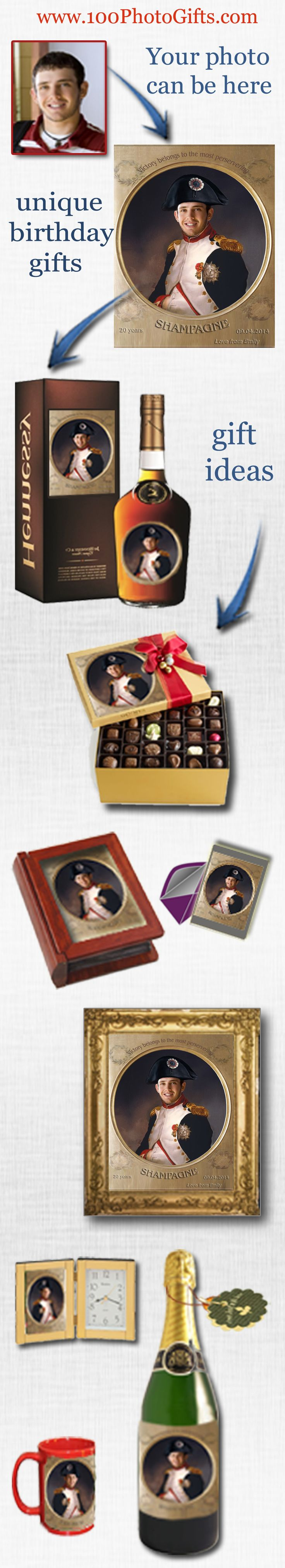 Best gifts for boyfriend or husband, brother, son and even boss. Sent us your photo and we will design unique picture for your loved one. Make your 21th, 25th, 30th, 40th anniversary gift unforgettable and cool. Personalized gifts, unique wine label, label on birthday champagne. Cheep gift ideas. Birthday gift ideas. Funny gifts, gifts for him, gifts for best friend, wine label invitations, champagne labels, best gifts for Boss birthday, gift ideas for best friends, gifts for 50th…
