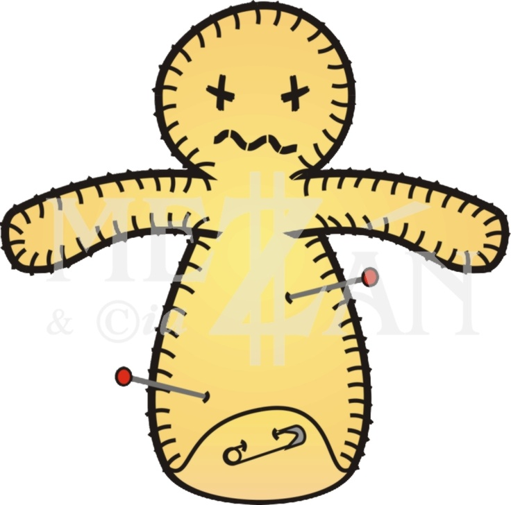 Little Voodoo, a reusable voodoo doll with a safety pin :D