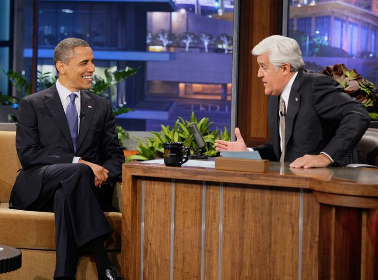 The Tonight Show With Jay Leno from Barack Obama's Coolest Pop Culture…