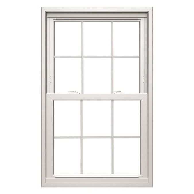 Thermastar By Pella 35 5 In X 37 5 In Vinyl Replacement White Double Hung Window Lowes Com In 2020 Double Hung Windows Double Hung Pella