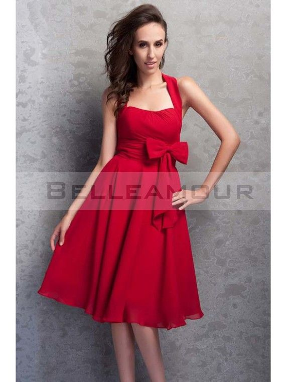 Robe mariage temoin rouge