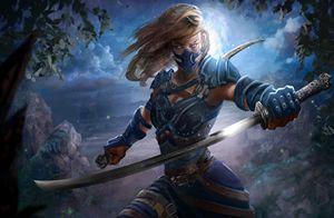 fantasy umění, meče, ženy