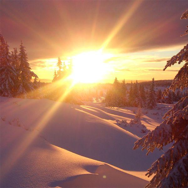Sunset, Lillehammer.