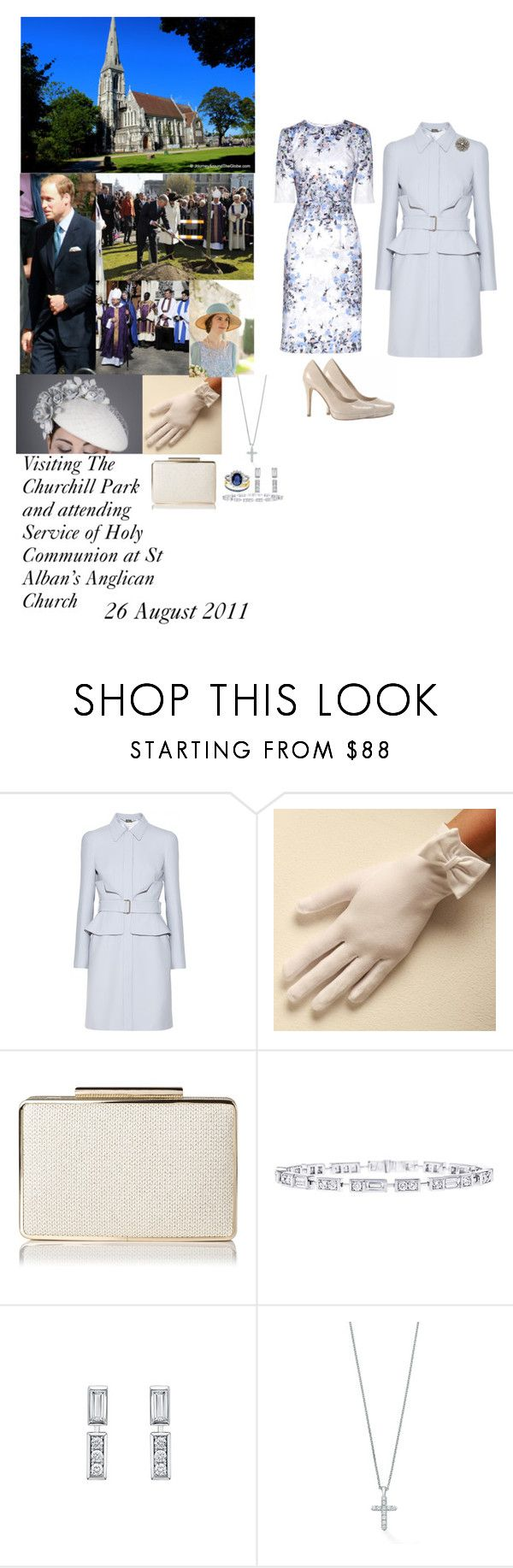 """""""Visiting the Churchill Park and Attending Service of Holy Communion St Alban's Anglican Church"""" by madeleine-duchessofcam ❤ liked on Polyvore featuring Alexander McQueen, L.K.Bennett, Russell & Bromley, Harry Winston and Erdem"""
