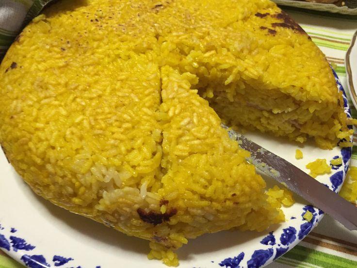 Torta di riso giallo #ricetta di @adefrancesco67