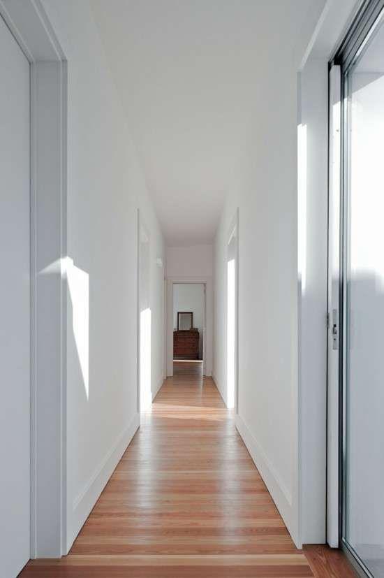 Arredamento corridoio stretto e lungo - Corridoio bianco
