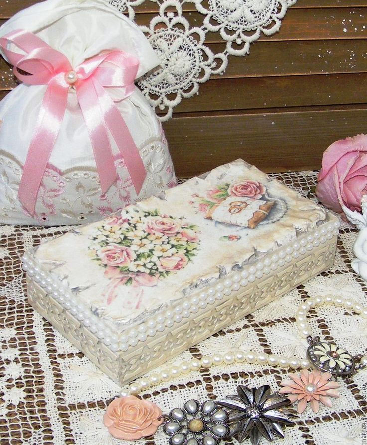Купить Свадебная шкатулка купюрница Букет роз. Декупаж - белый, перламутр, свадебная шкатулка