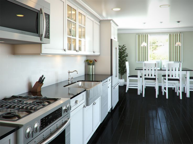 Best 25 one wall kitchen ideas only on pinterest for Common kitchen layouts