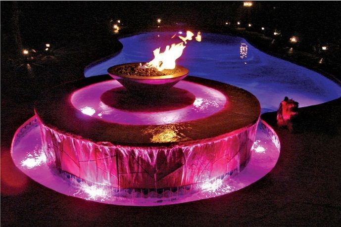 1000 images about fire and water on pinterest blue - Pool fire bowls ...