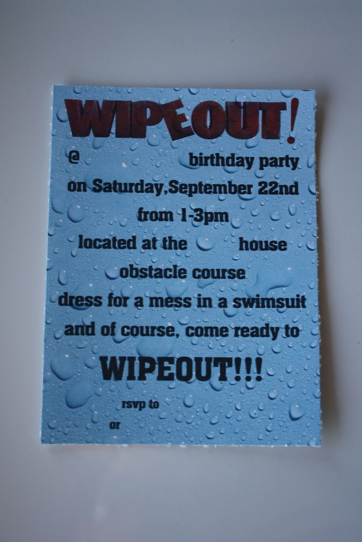 19 best Ashton bday images on Pinterest | Party outdoor, Wipeout ...
