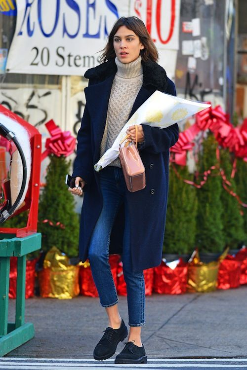 miss-sheffield: 18-12-2014 Alexa Chung seen out and about in... (Alexa Chung's…