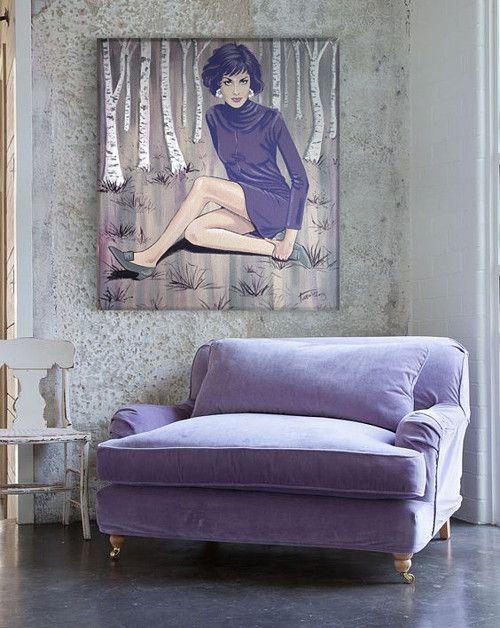 Lady Purple - acrylic painting
