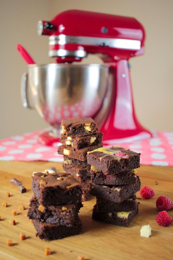 What's better than a delicious, squidgy brownie? Three types of delicious, squidgy brownies!