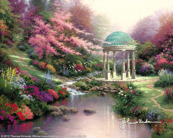 Pools of Serenity by Thomas Kinkade his paintings/painting titles simply bring meaning to you