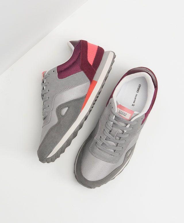Trójkolorowe buty sportowe casual - OYSHO