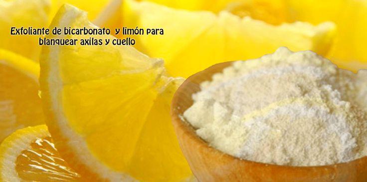 Exfoliante de bicarbonato  y limón para blanquear axilas y cuello