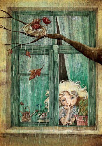 Rainy Day - Alessandra Fusi / http://www.alessandrafusi.com/gallery.html