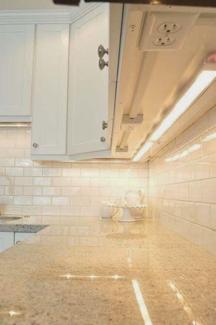 Clean kitchen. Bright lights