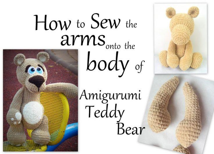 F-R-E-E Video Tutorials וידאו הדרכות חינם  ************************** How to sew the arms onto the body of Amigurumi Teddy Bear. סרטון המראה איך תופרים בצורה נכונה את ידיים לגוף https://youtu.be/T336O8457Ac