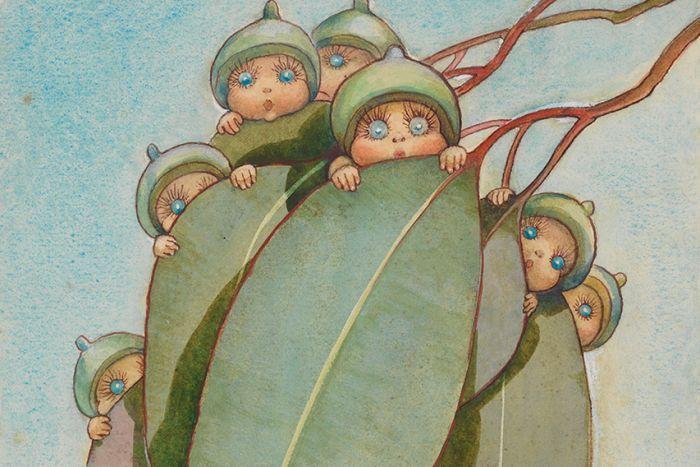 May Gibbs artwork, Bib and Bub , the Gumnut babies