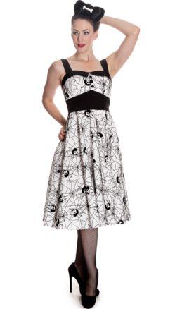 Black Widow Dress-White