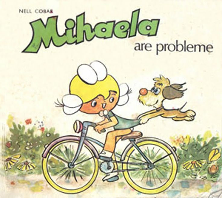 Mihaela is a character in a Romanian cartoon. She basically taught the children to wash their teeth and smile a lot.