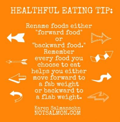 poster healthful eating tip: Loss Healthy, Health Eating, Backwards Food, Healthy Thoughts, Forward Food, Food Choice, Lose Weights, Healthy Eating Tips, Healthy Recipes