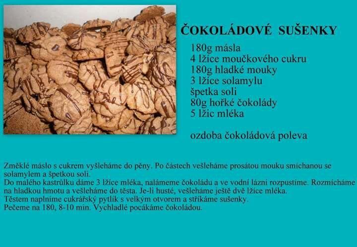 Čokoládové sušienky