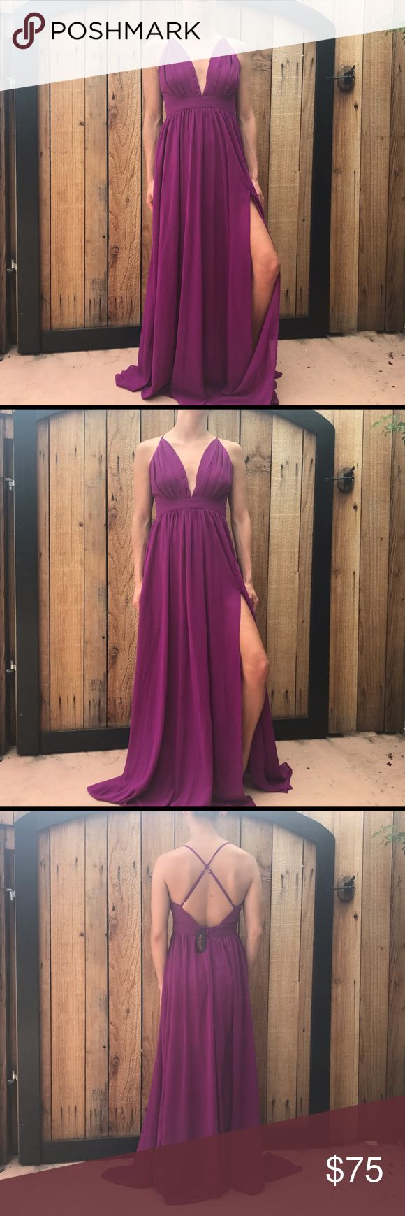 Hot Miami Styles Formal Dress🎉30% OFF ANY BUNDLE New with tags hot Miami styles dress. Adjustable straps, side slit. Bundle and save. No trades   #hotmiamistyle #hms #prom #formaldress #maxi #longdress Hot Miami Styles Dresses Wedding