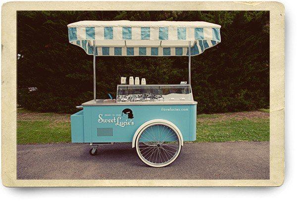 Gourmet ice cream truck